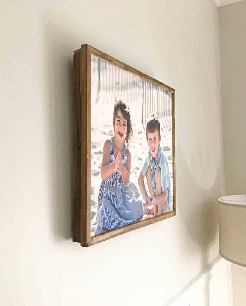 DIY wood frame for a Canvas from Lattice Wood and Moulding