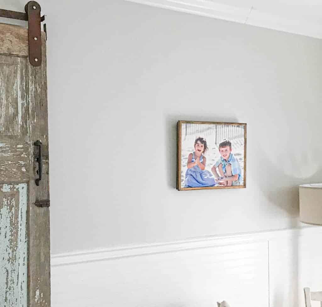 DIY wood frame around a canvas