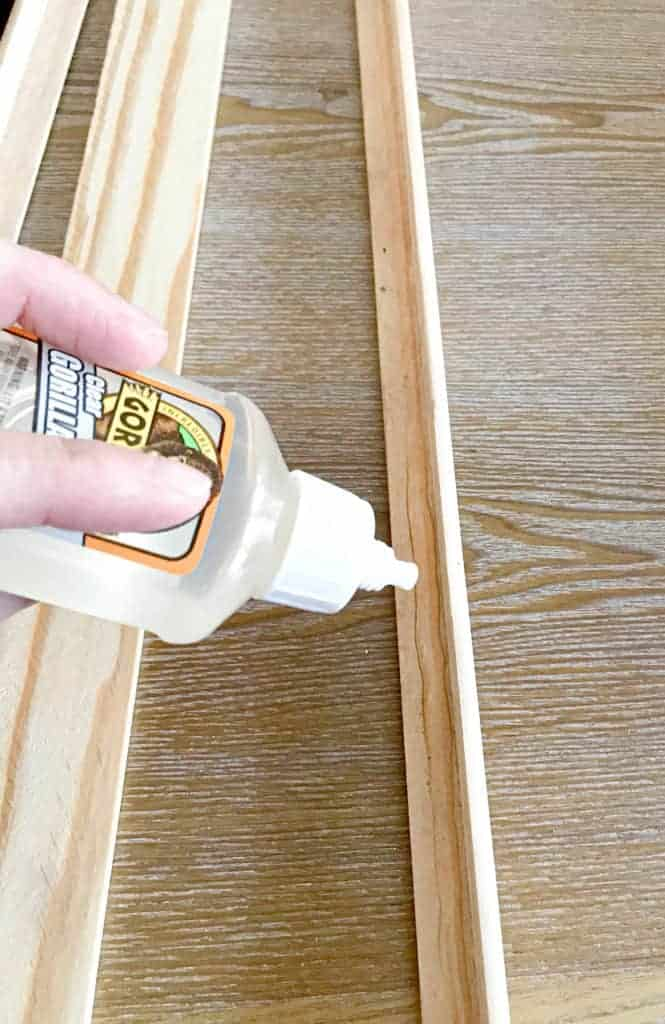 gluing the lattice and moulding together
