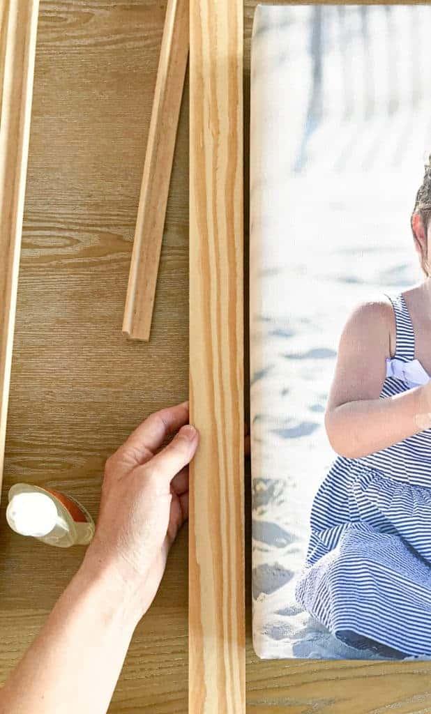 lattice wood for a DIY canvas frame