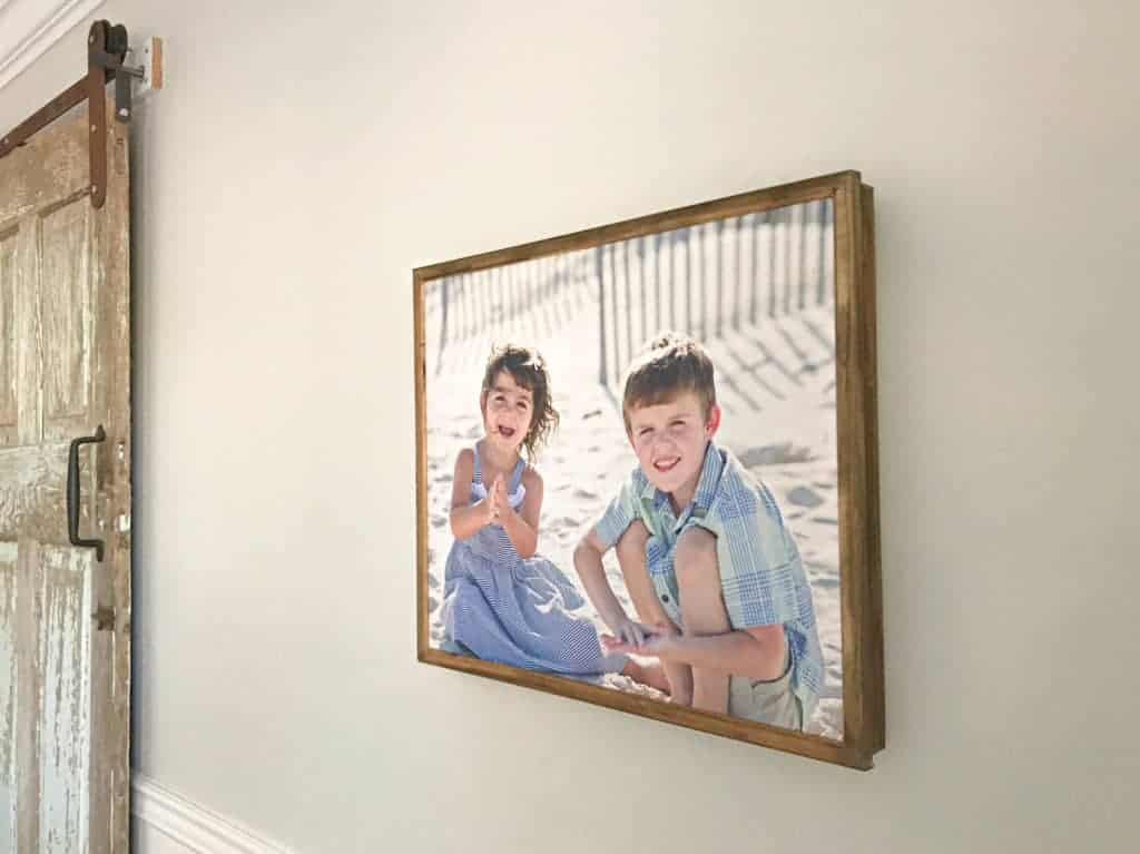 DIY Canvas Frame from Lattice Wood and Moulding