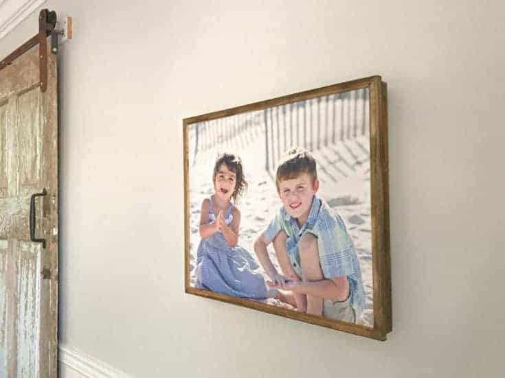 How to make a DIY Wood Canvas Picture Frame