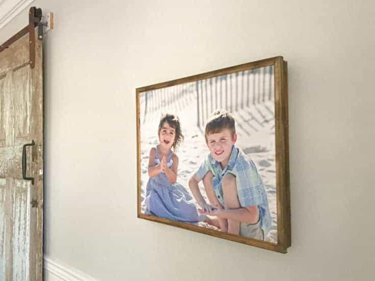 DIY wood frame for a canvas