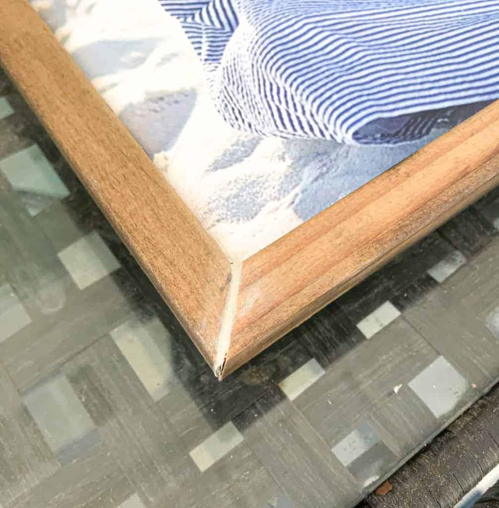 wipe away excess wood filler