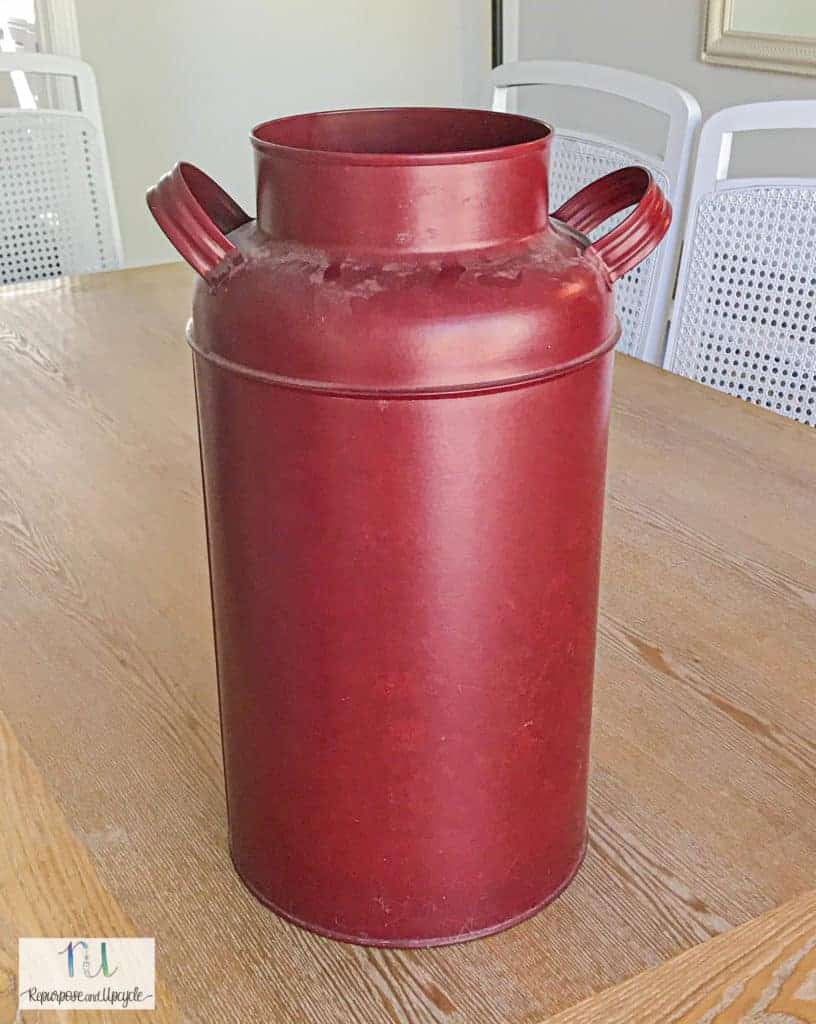 milk jug before the makeover