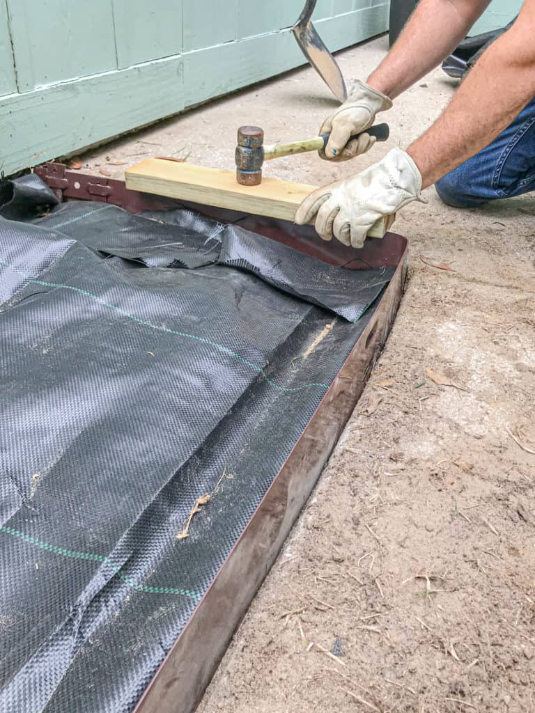 installing metal edging