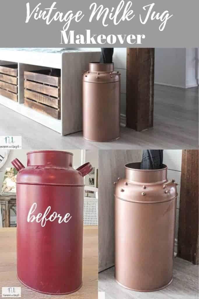 vintage milk jug makeover