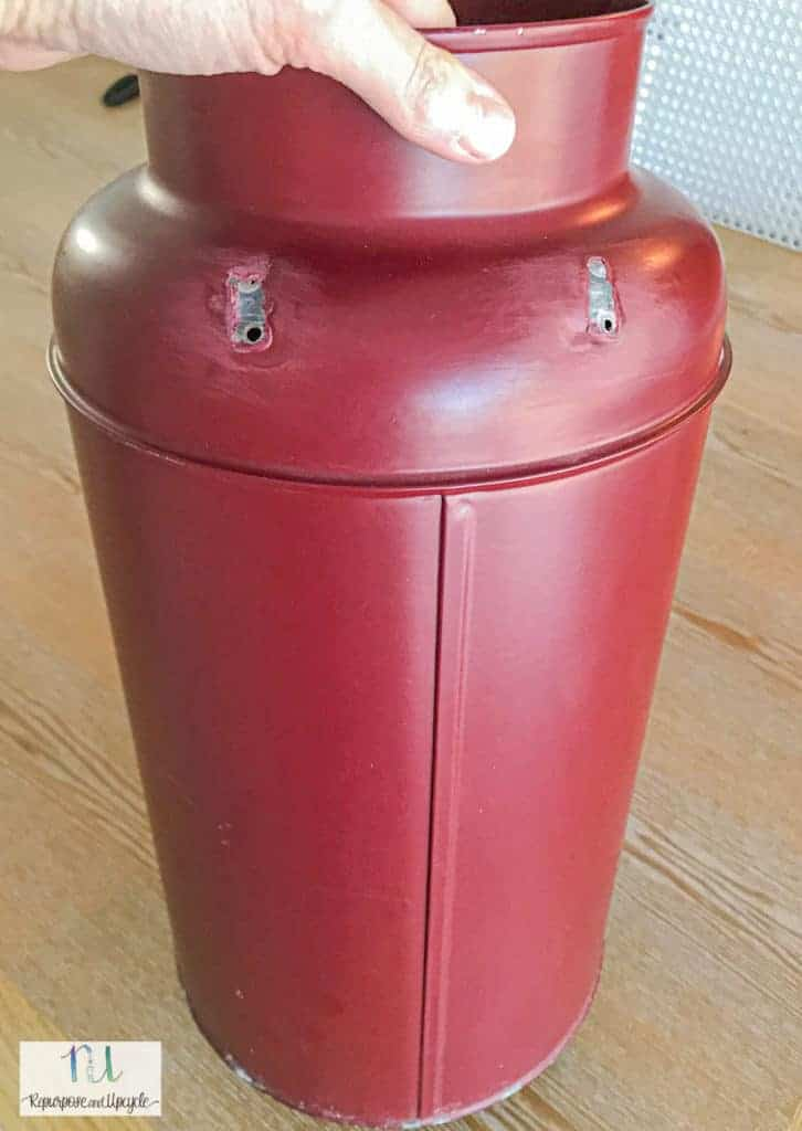 vintage milk can without the handles