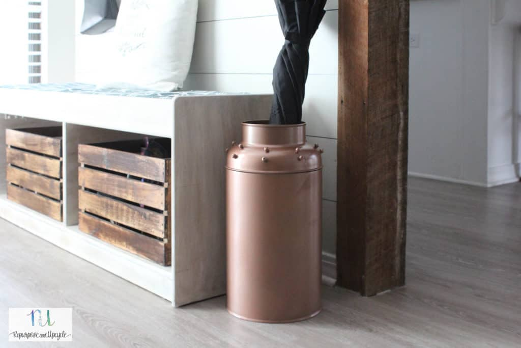 antique milk can makeover