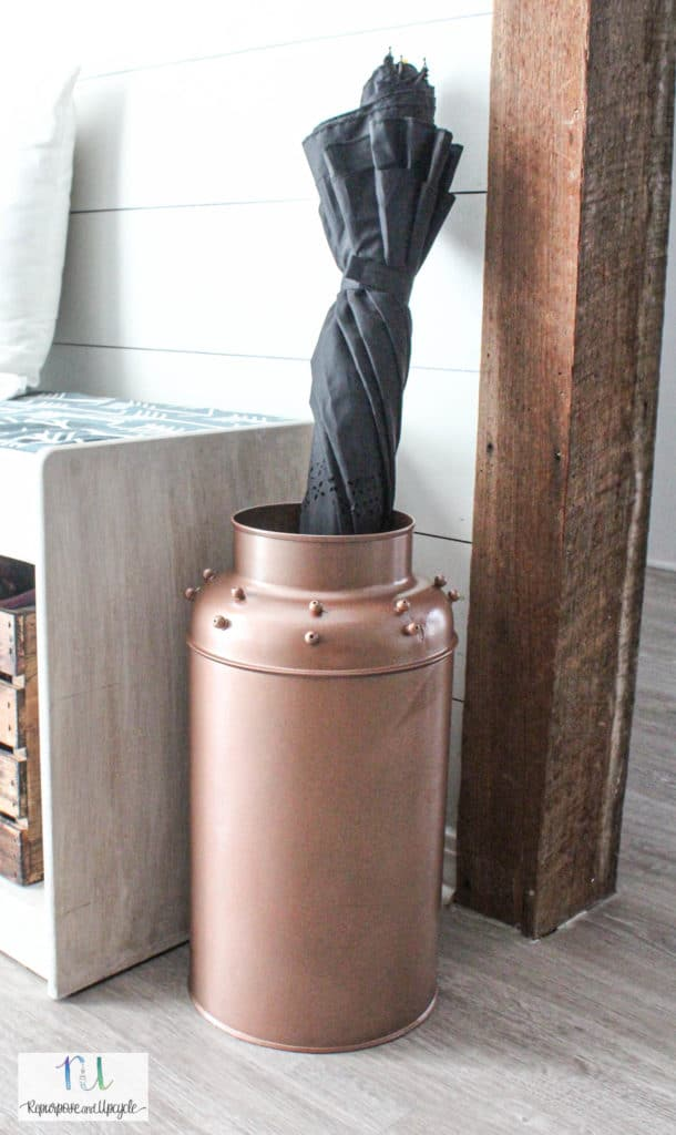vintage milk can makeover