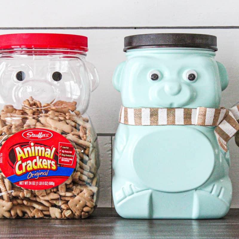animal cracker bear jug repurposed