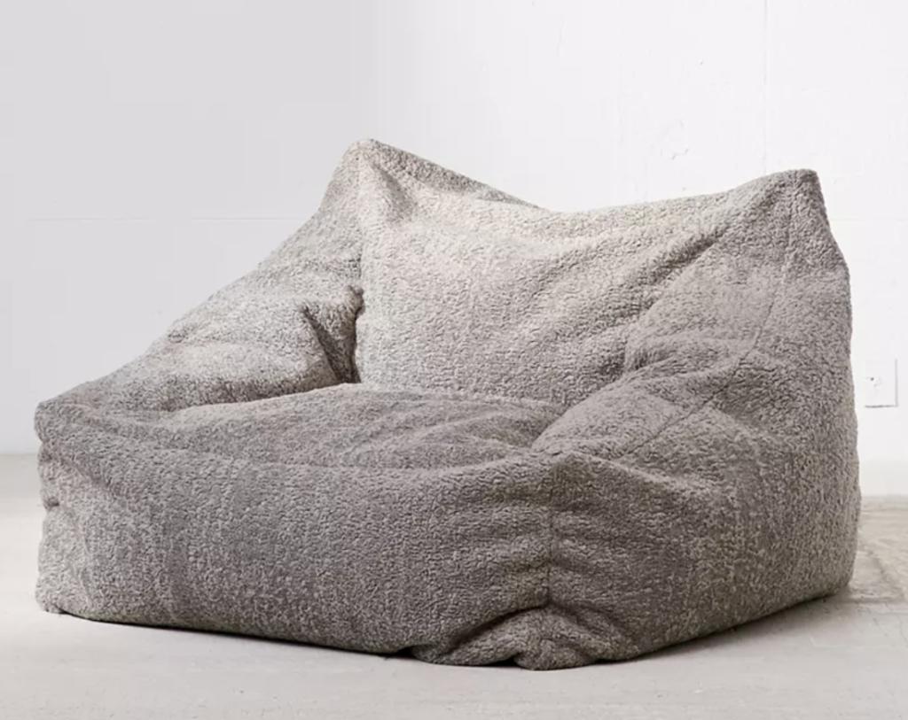 cooper faux sheepskin lounger