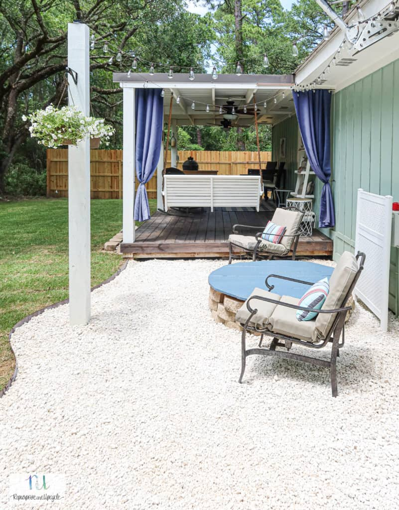 DIY gravel patio