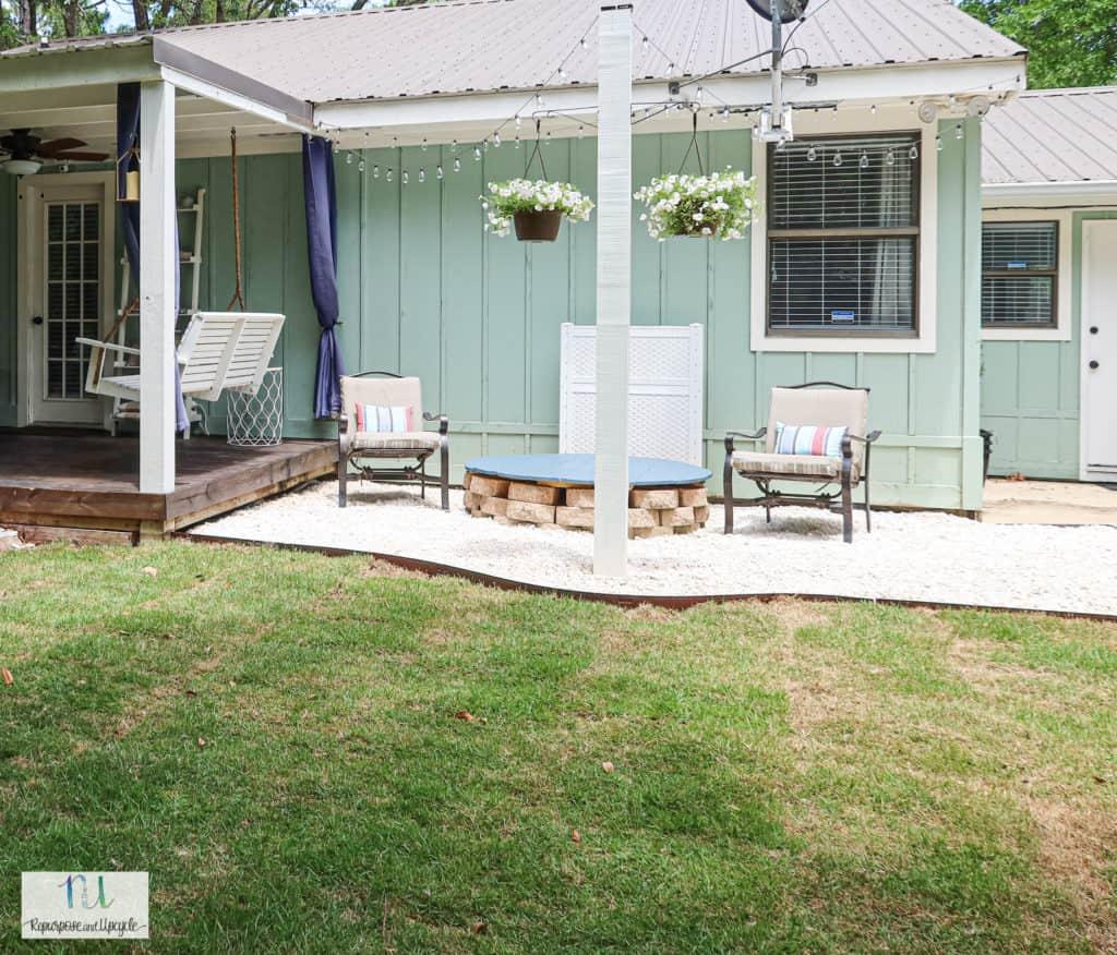 DIY gravel patio