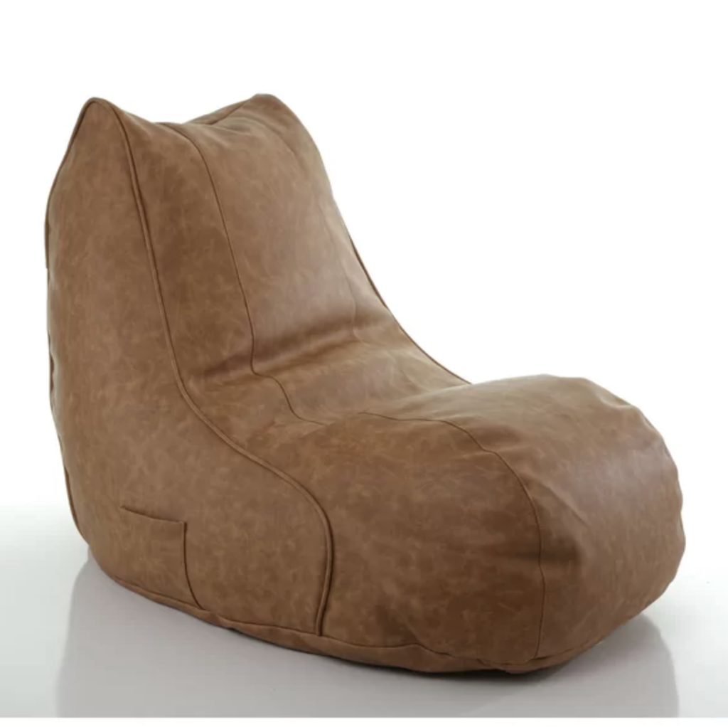 Small Faux Leather Bean Bag Chair & Lounger