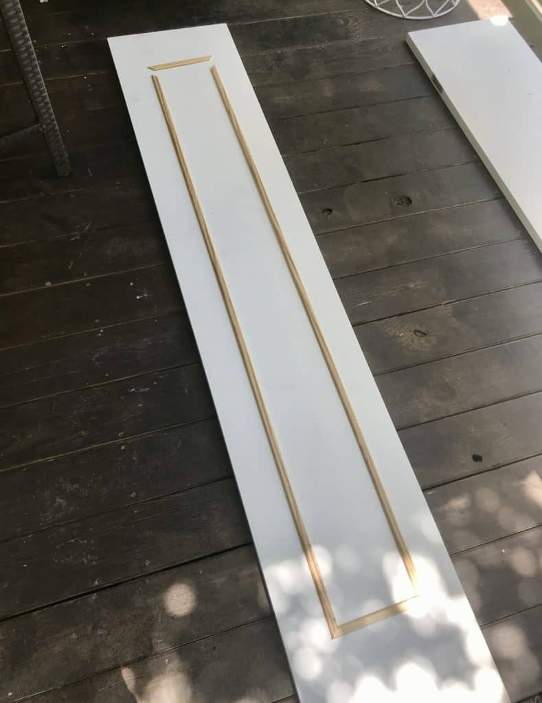 adding moulding to bifold door