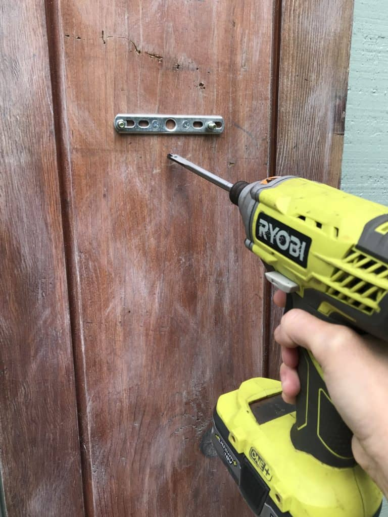 drilling hole for sconce hardware