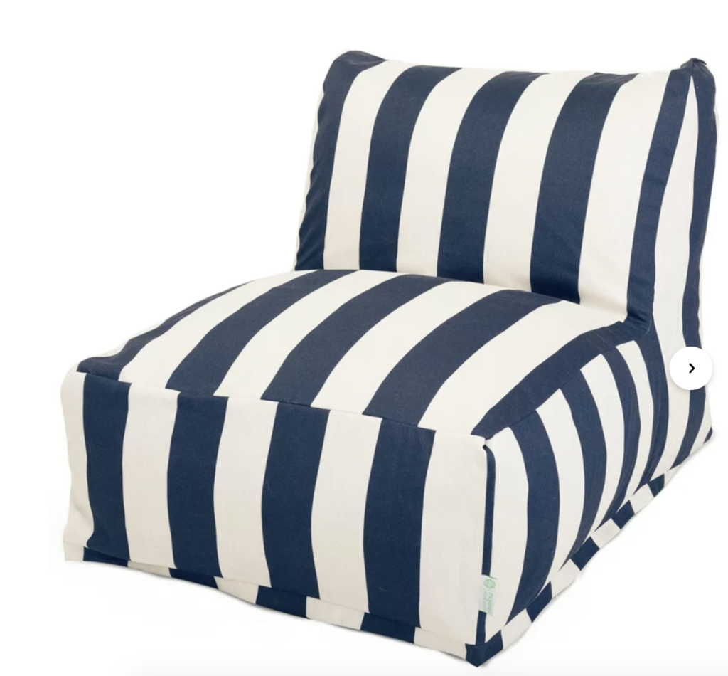 outdoor friendly pouf lounger