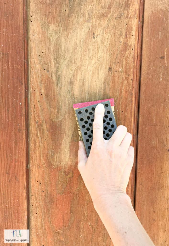 sanding vintage doors