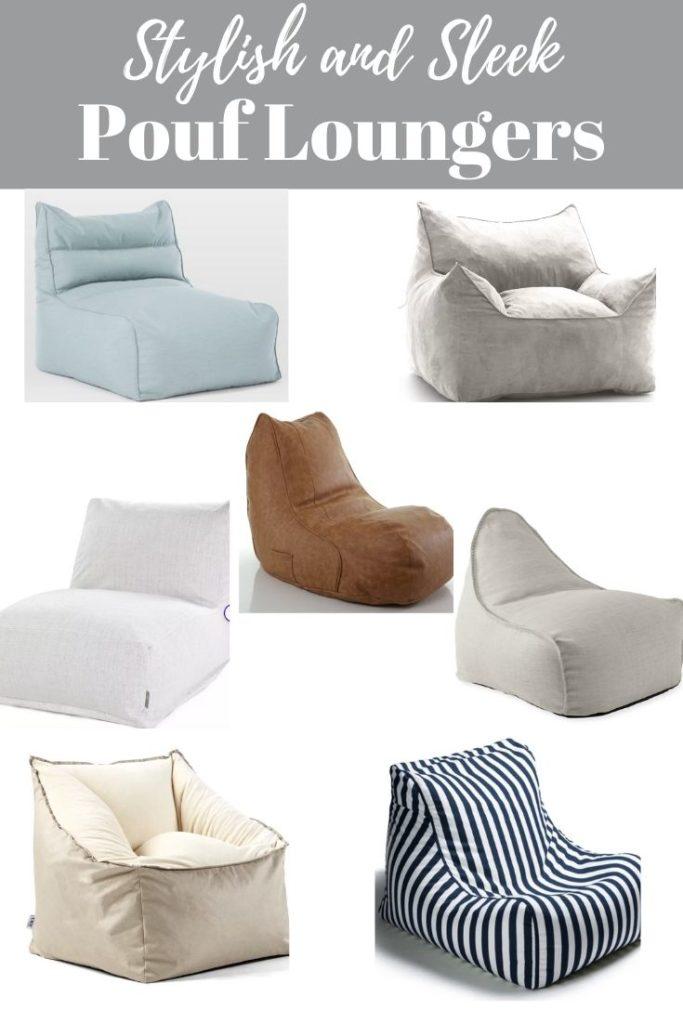 stylish and sleek pouf loungers