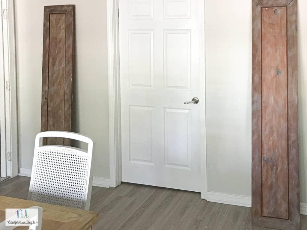 vintage doors in dining room