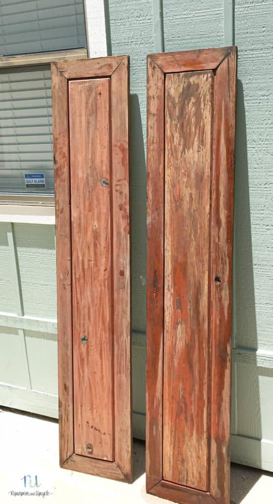 drying vintage doors