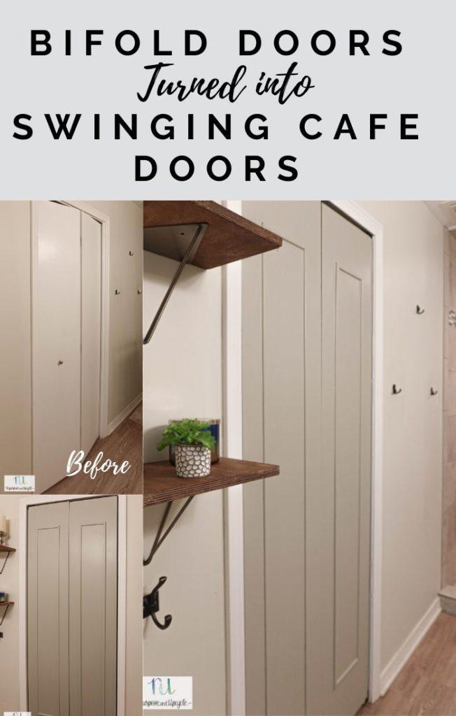 bifold doors turned into cafe doors