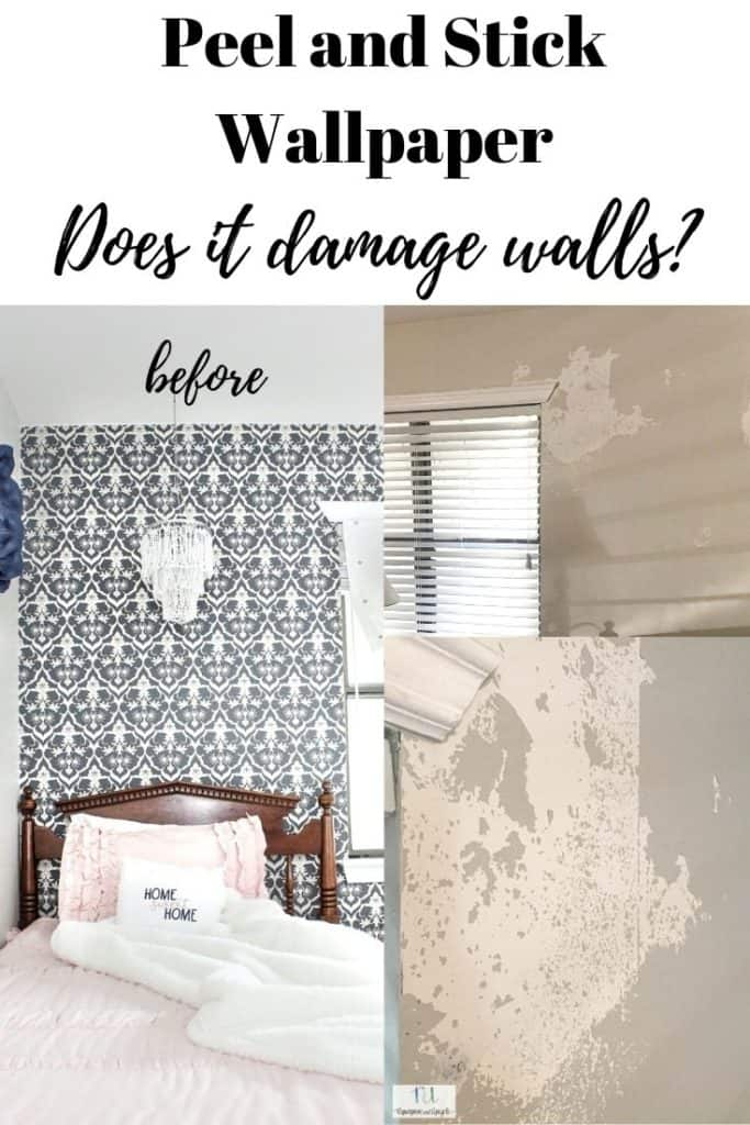 peel and stick wallpaper; does it damage walls when removed.