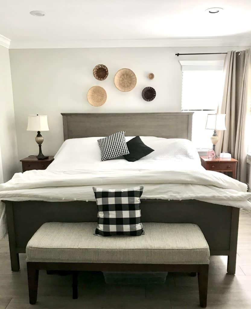 bed placement around a corner window