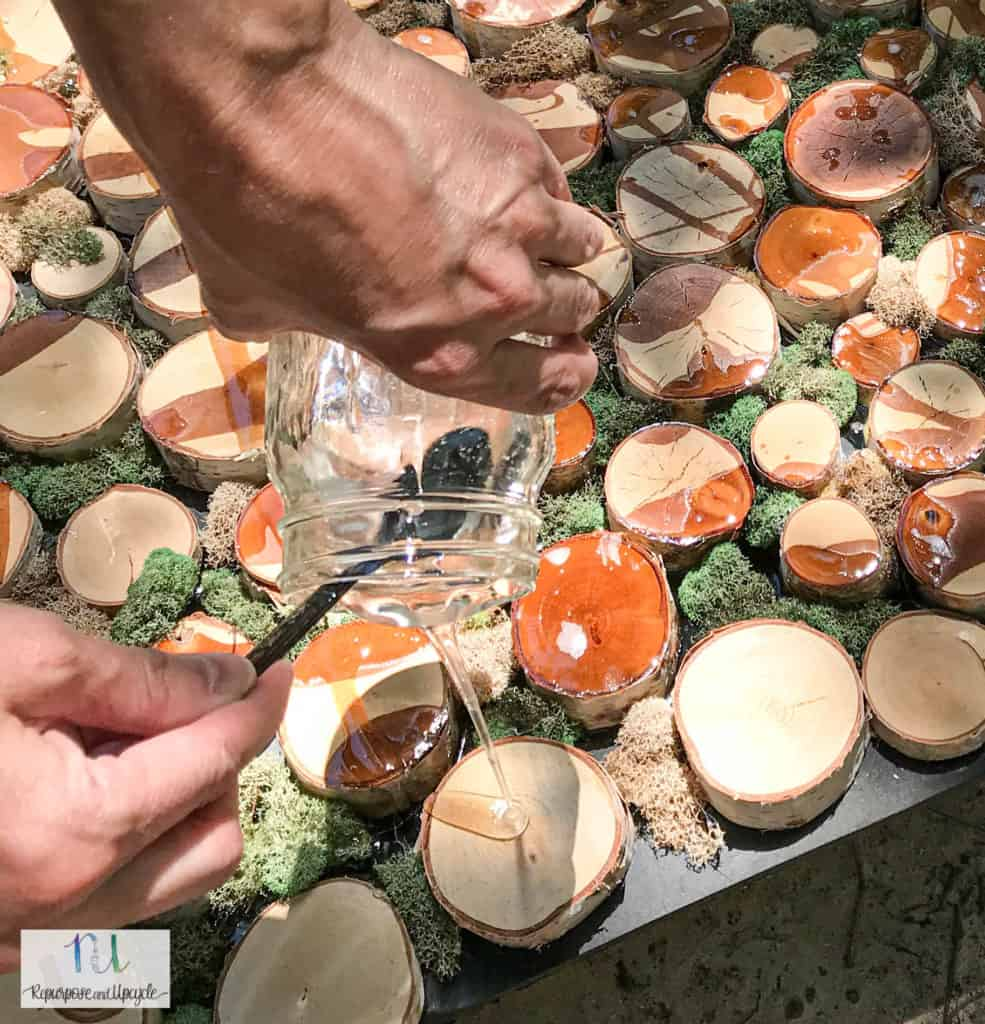 pouring epoxy resin
