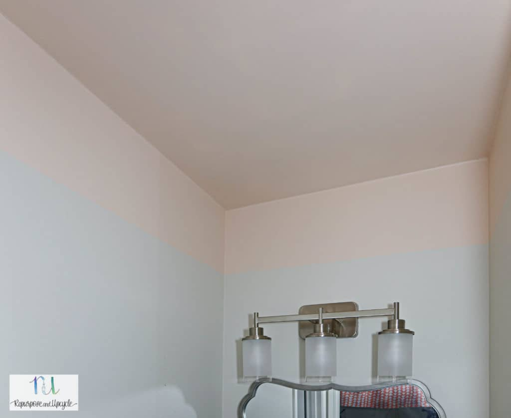 painted ceiling in pink