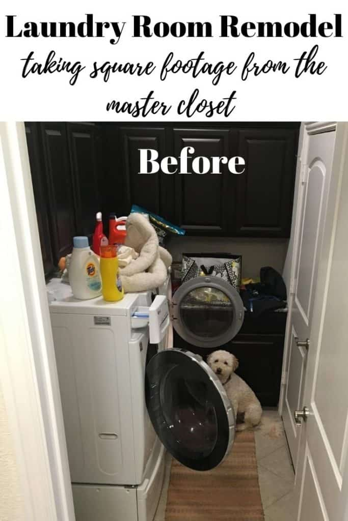 laundry room makeover before the remodel
