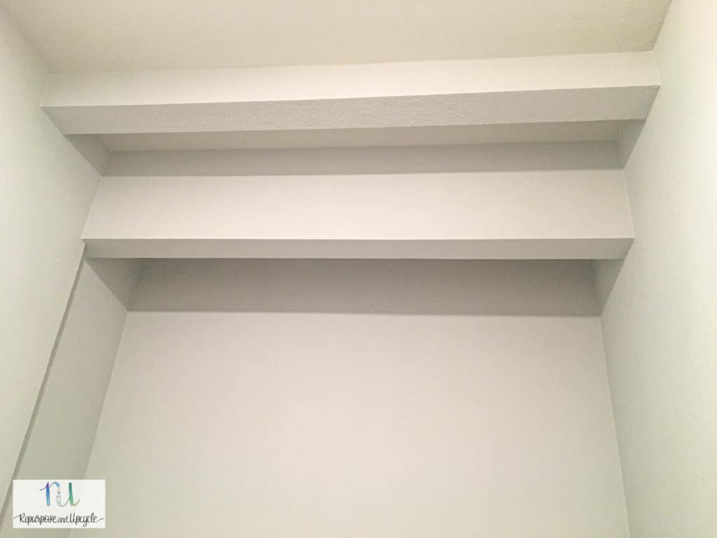 laundry room header with drywall