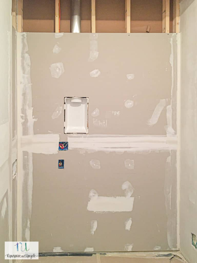 adding drywall to laundry room remodel