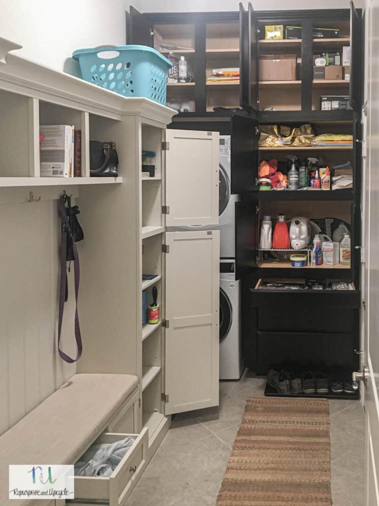 laundry room remodel organization