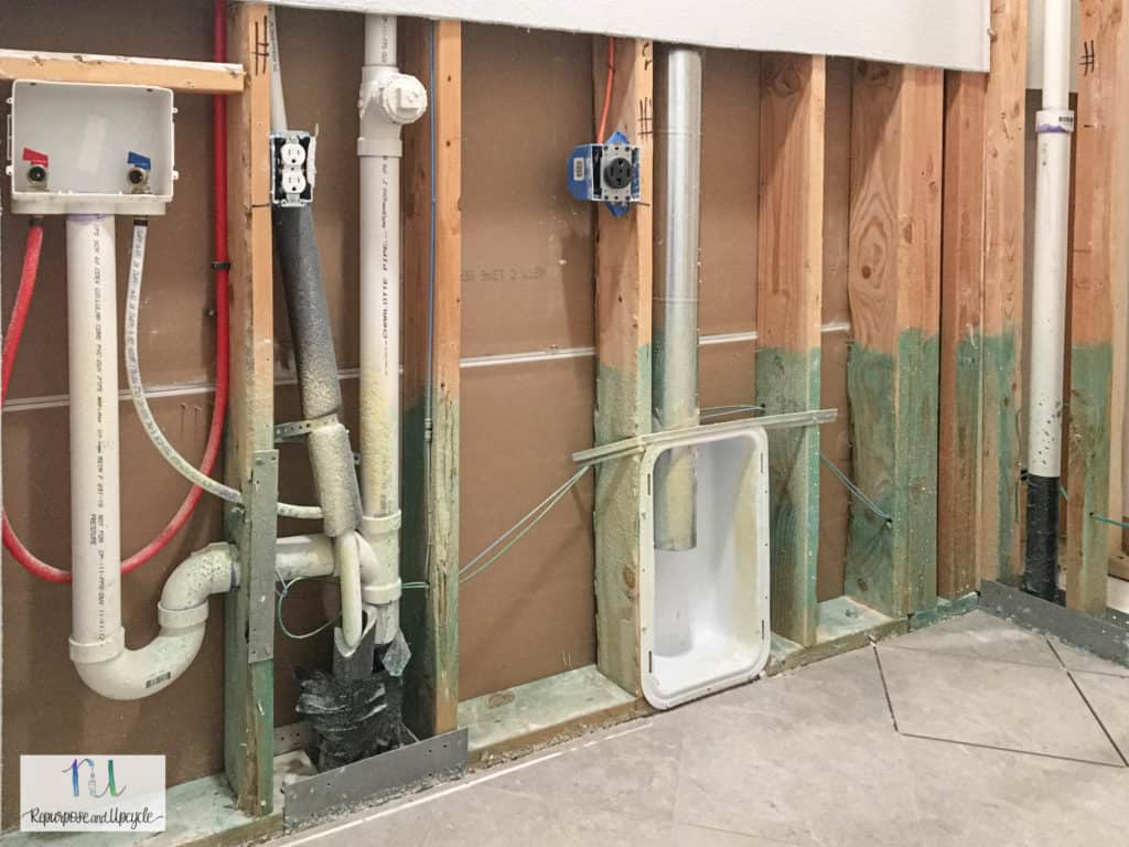 old plumbing and electrical