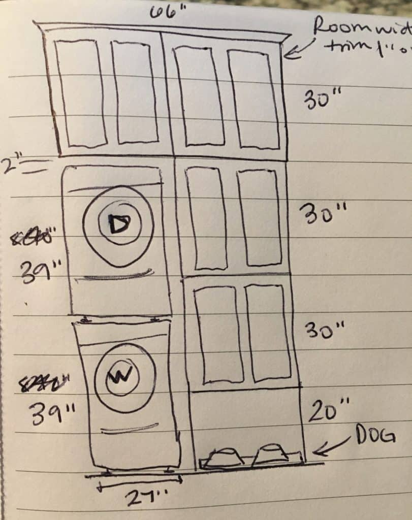 laundry room remodel sketches