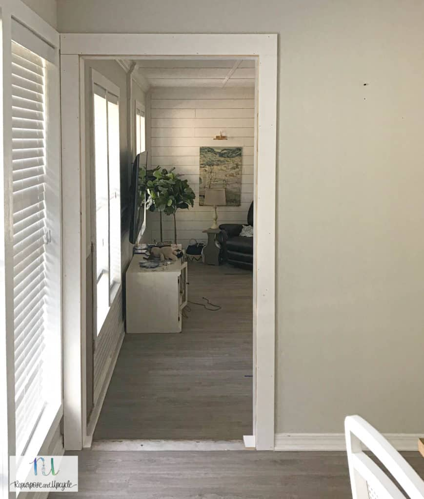 new doorway into living room