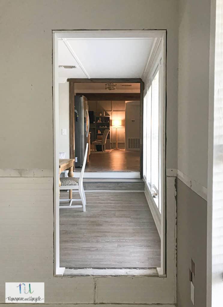 new doorway installed