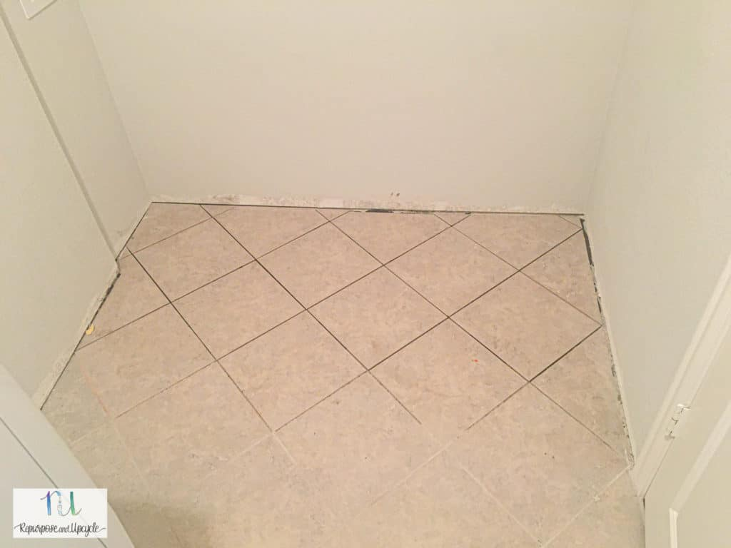 new flooring in the laundry room remodel
