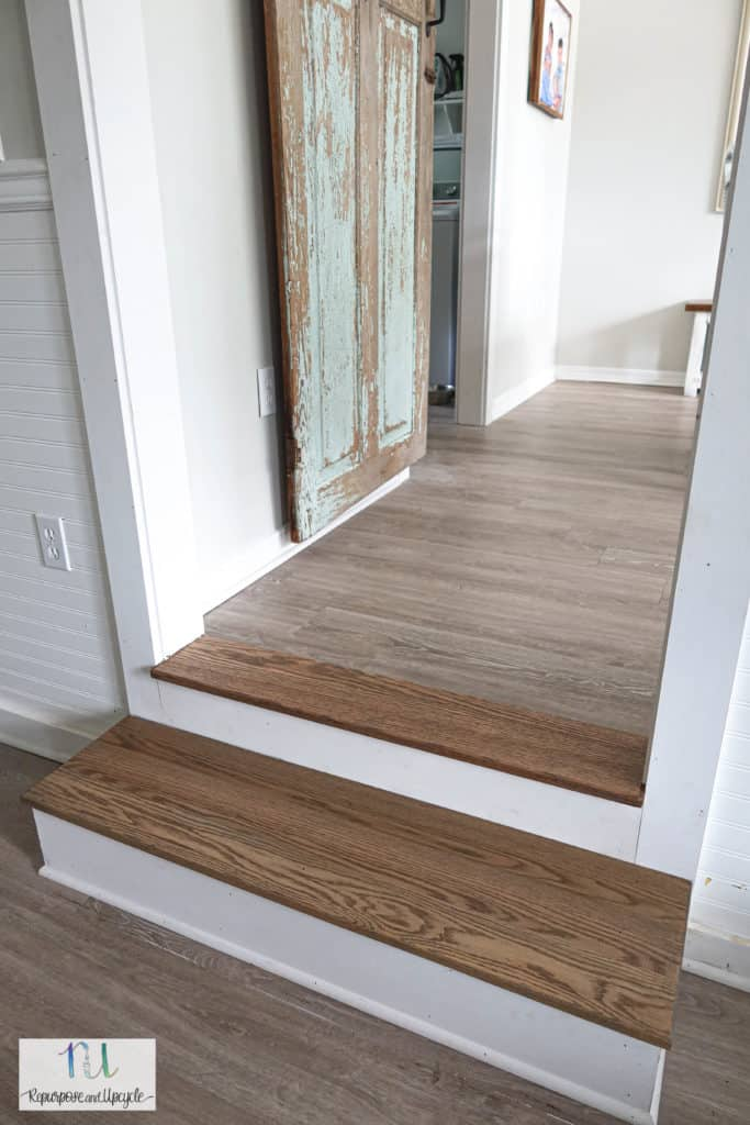 Stained Oak wood stairs