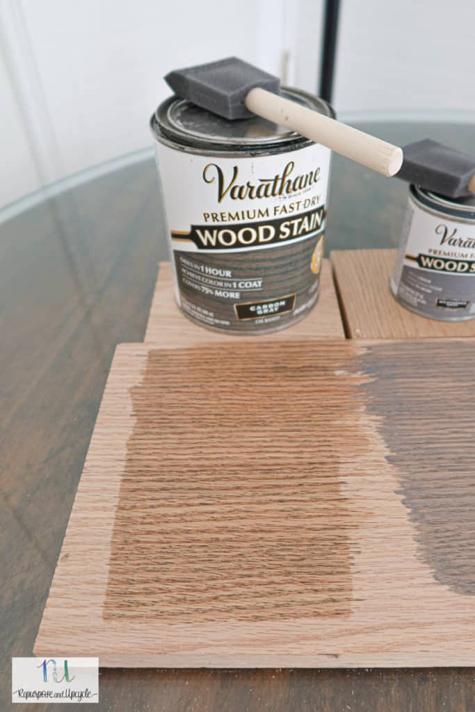 Varathane carbon gray on Oak wood