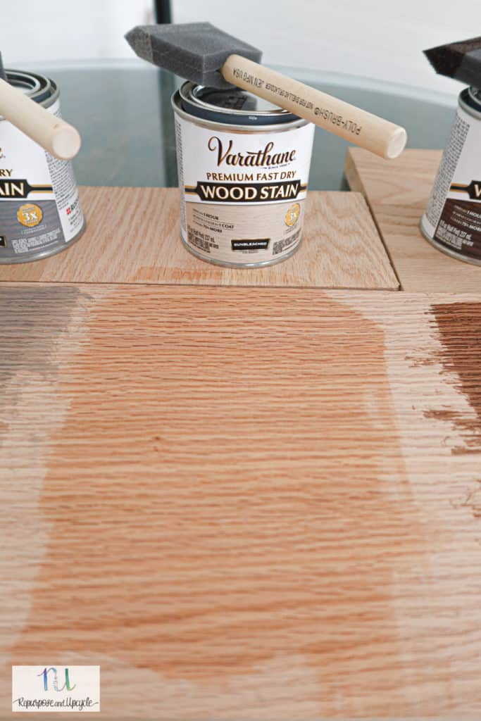 Varathane sunbleached stain on Oak