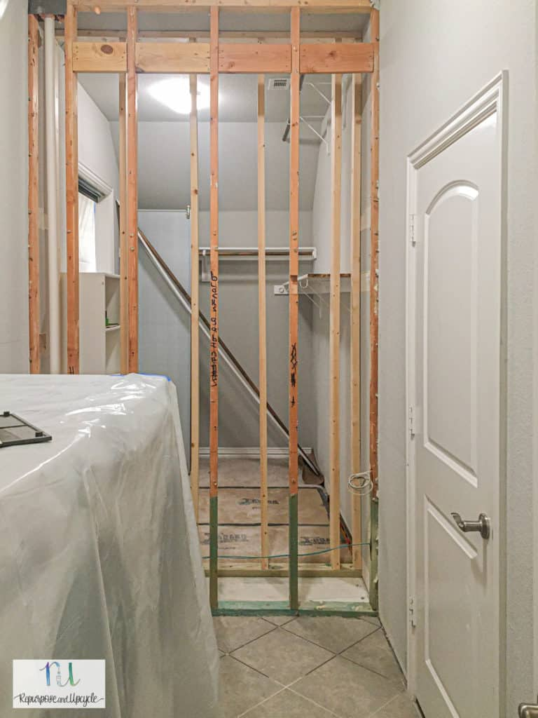 opening up the wall between laundry room and master closet