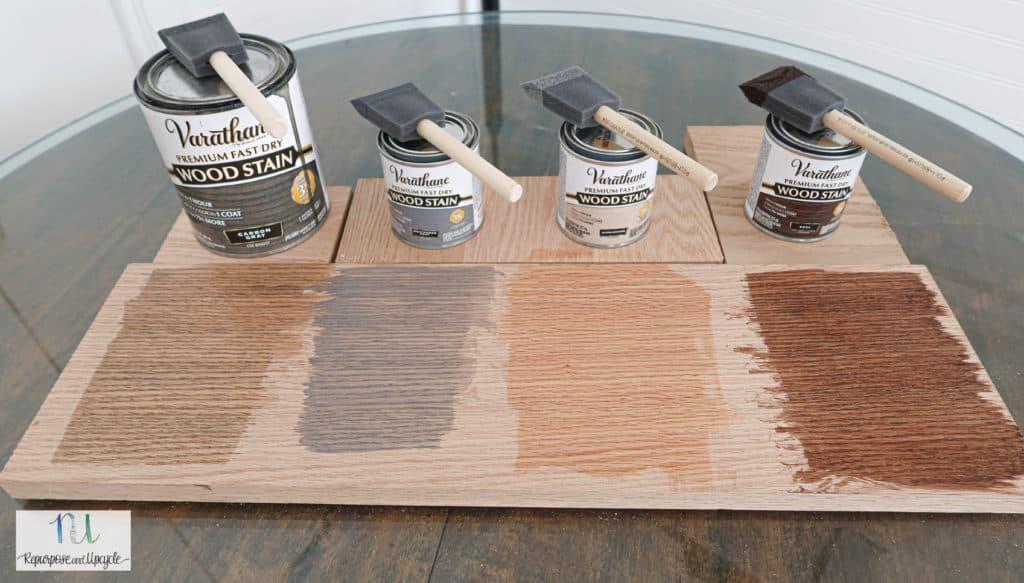 Varathane wood stain on Oak