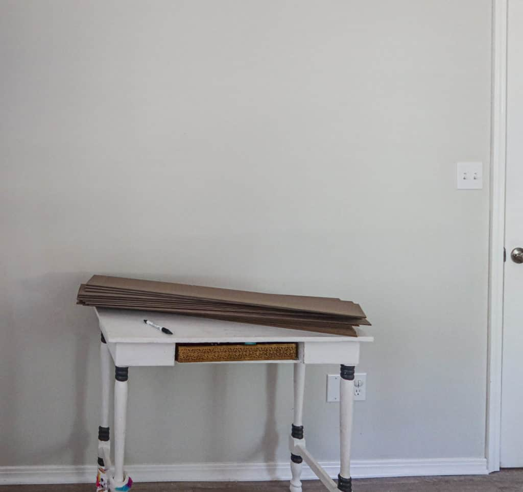wall BEFORE the ombre paint technique