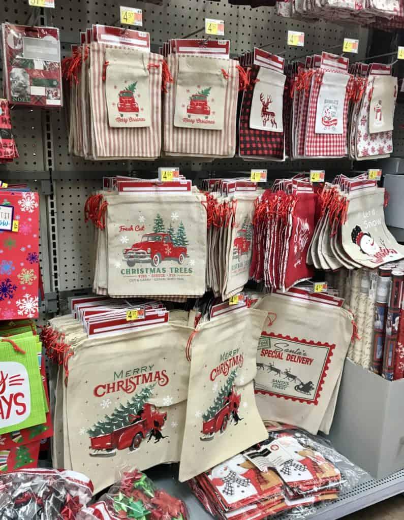 canvas gift bags at Walmart