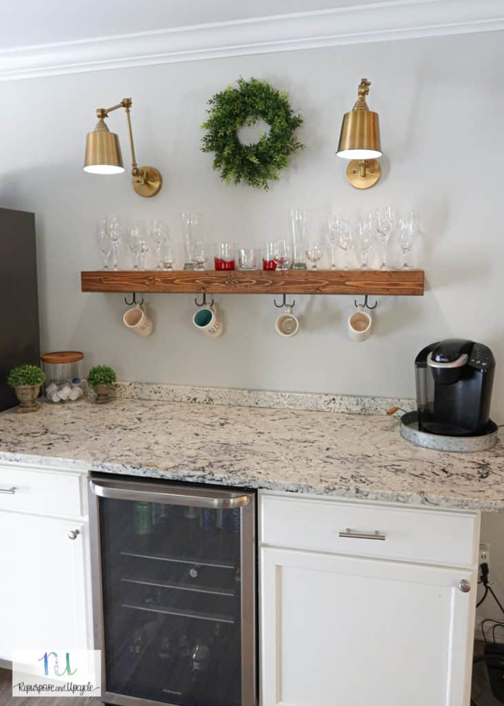 Modern Eclectic Beverage Bar or Coffee Bar