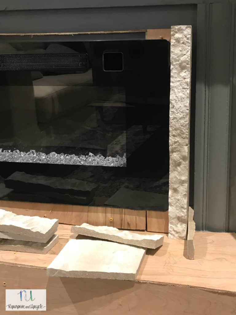 air stone around electric fireplace