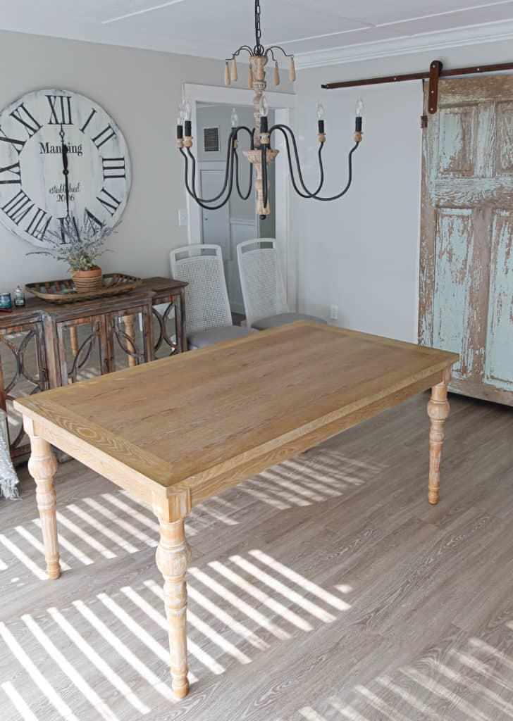 table before DIY tinted top coat
